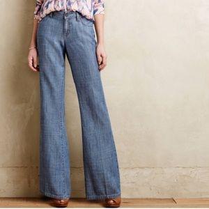 Level 99 Anthropogie Newport wide leg trouser jean